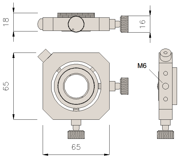 Dimensions of adjustment holder HSF02