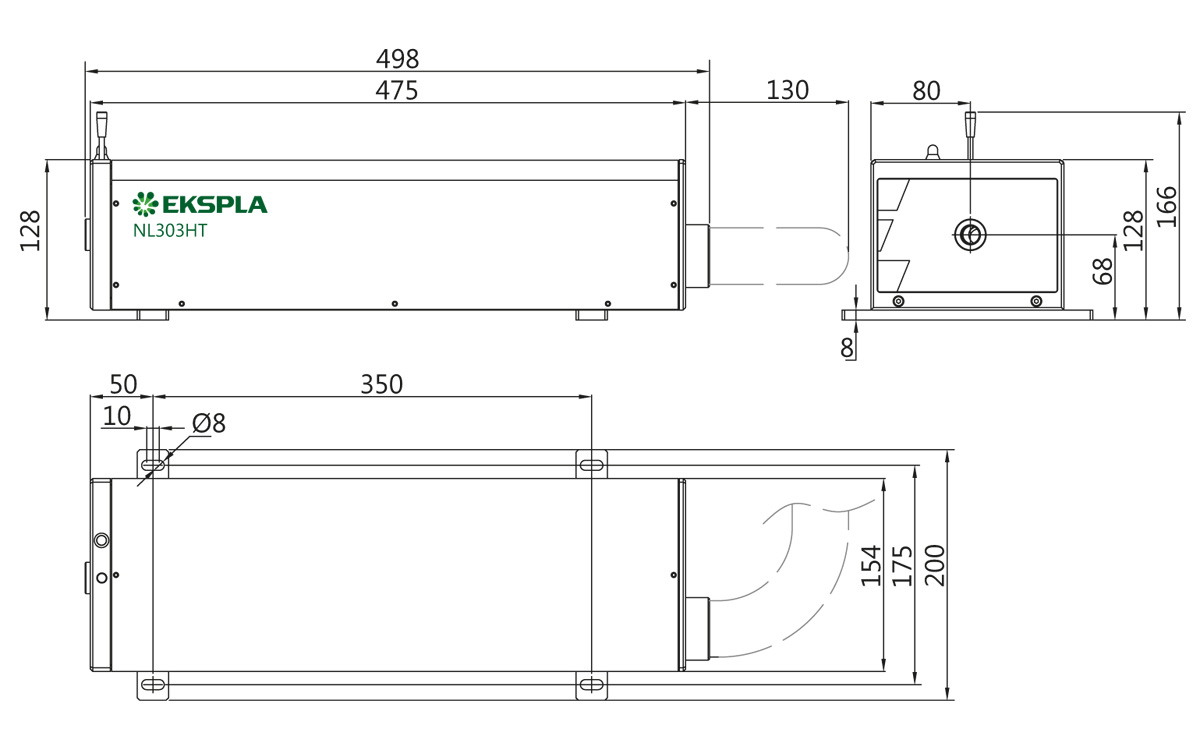NL300 series laser head outline drawing