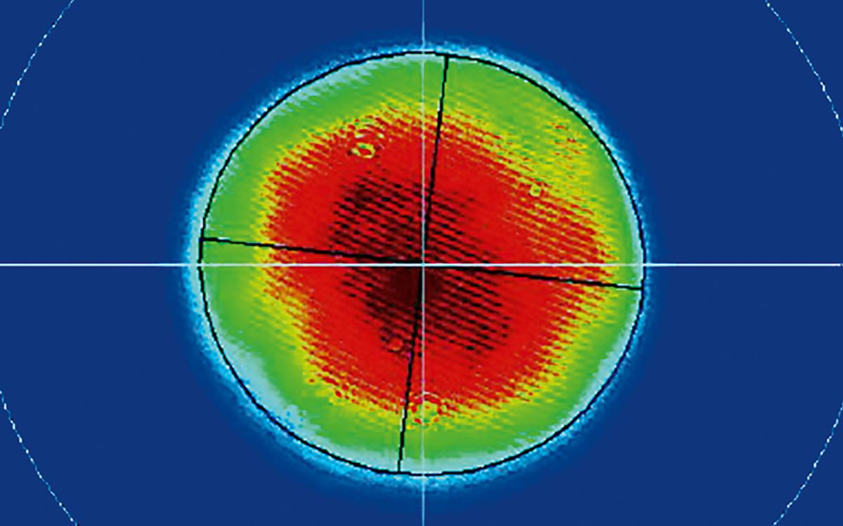 NL740 near field beam profile at 532 nm