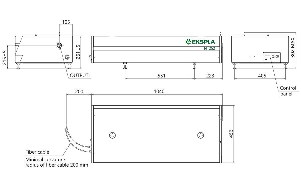 NT252 series laser head dimensions
