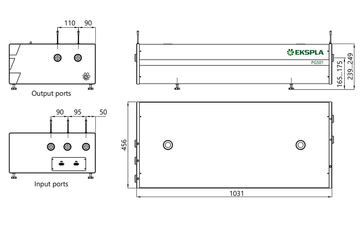 PG501 external dimensions