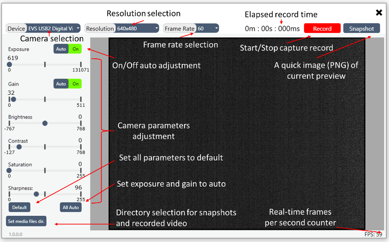 Software of digital IR camera Contour-Cmos